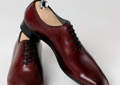 8381 Bordeaux - chaussures en cuir personnalisables, fabriquées main - Caralys Nice