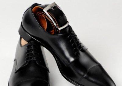 9058-Noir - chaussures en cuir personnalisables, fabriquées main - Caralys Nice