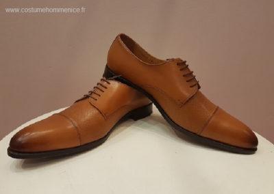 9058 miel - chaussures en cuir personnalisables, fabriquées main - Caralys Nice