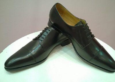 9058 noir - chaussures en cuir personnalisables, fabriquées main - Caralys Nice