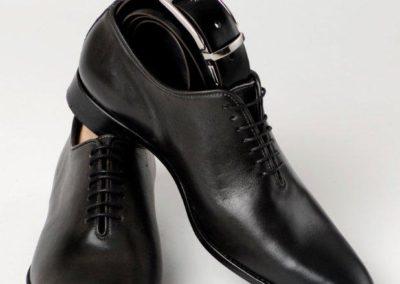 9292-gris-- chaussures en cuir personnalisables, fabriquées main - Caralys Nice