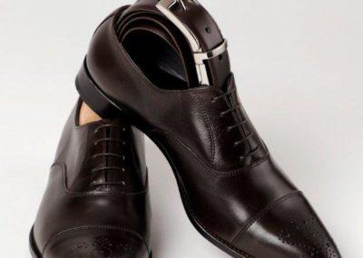 9295-Marron-- chaussures en cuir personnalisables, fabriquées main - Caralys Nice