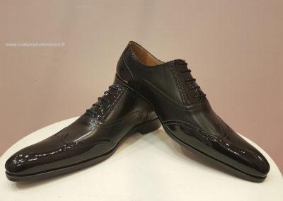 9417-noir vernis et mat - chaussures en cuir personnalisables, fabriquées main - Caralys Nice