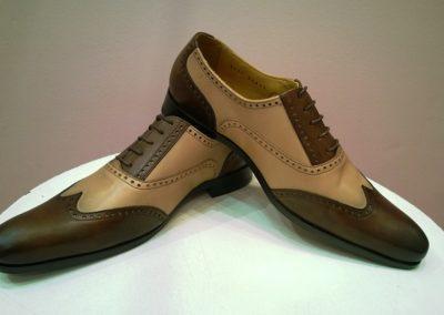 9417-marron-beige - chaussures en cuir personnalisables, fabriquées main - Caralys Nice