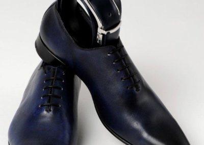 9632 marine - chaussures en cuir personnalisables, fabriquées main - Caralys Nice