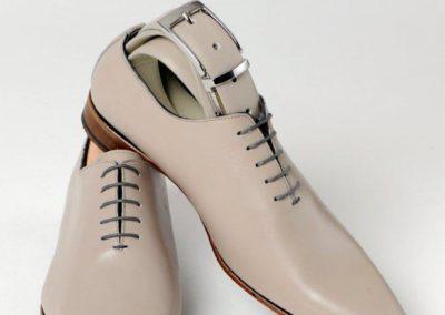 9634-gris-clair- chaussures en cuir personnalisables, fabriquées main - Caralys Nice