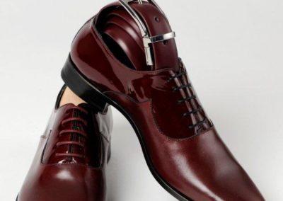 9679-bordeaux - chaussures en cuir personnalisables, fabriquées main - Caralys Nice