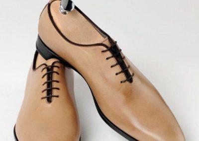 9680-beige - chaussures en cuir personnalisables, fabriquées main - Caralys Nice