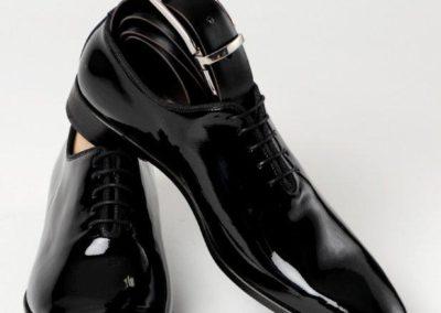 9680-vernis-noir - chaussures en cuir personnalisables, fabriquées main - Caralys Nice