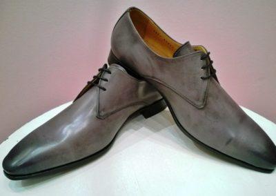 9827-gris-clair patiné - chaussures en cuir personnalisables, fabriquées main - Caralys Nice