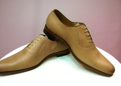 9828-beige- chaussures en cuir personnalisables, fabriquées main - Caralys Nice