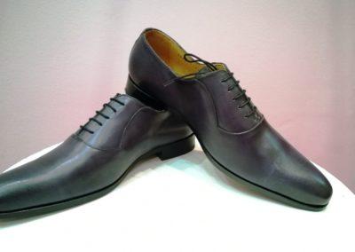 9828-bleu patiné - chaussures en cuir personnalisables, fabriquées main - Caralys Nice