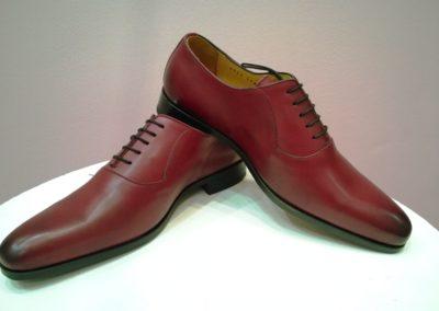 9828-bordeaux - chaussures en cuir personnalisables, fabriquées main - Caralys Nice