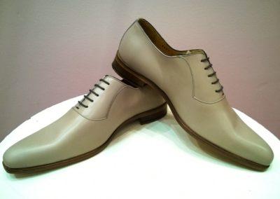 9828-gris-clair - chaussures en cuir personnalisables, fabriquées main - Caralys Nice