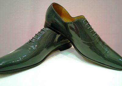 9828-gris foncé vernis - chaussures en cuir personnalisables, fabriquées main - Caralys Nice