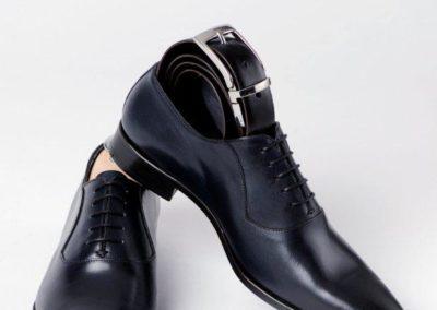 9828-marine - chaussures en cuir personnalisables, fabriquées main - Caralys Nice