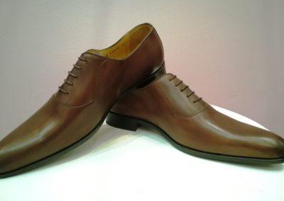 9828-marron-- chaussures en cuir personnalisables, fabriquées main - Caralys Nice