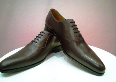 9828-marronfoncé - chaussures en cuir personnalisables, fabriquées main - Caralys Nice