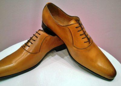9828-miel-- chaussures en cuir personnalisables, fabriquées main - Caralys Nice