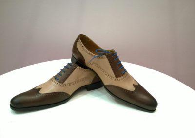 9417-marron-beige- chaussures en cuir personnalisables, fabriquées main - Caralys Nice