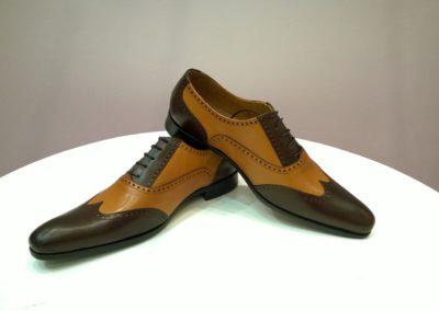9417-marron miel- chaussures en cuir personnalisables, fabriquées main - Caralys Nice
