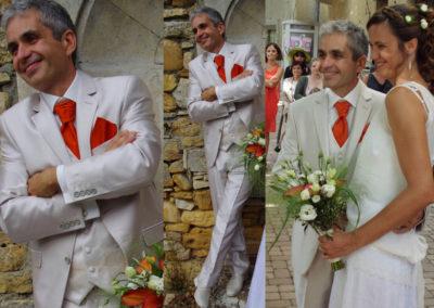 Christophe : Mariage le 2 Aout 2014. 'Merci encore pour vos conseils. Le costume a fait un super effet. Tout le monde a beaucoup aimé !'