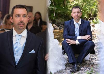 Frédéric: mariage le 18 Juillet 2015 à Nice avec un costume prêt à porter et un gilet sur mesure