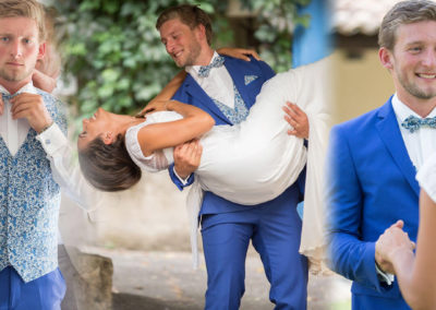Valentin, mariage le 21 Juillet 2017 avec un costume prêt à porter et accessoires sur mesure.