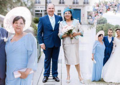 """Mr et Mme G. . parents des mariés, le 16 Juin 2018, Le mariage a été super ! Nos enfants ont apprécié, comme nous, votre commentaire sur l'harmonie de nos toilettes avec le thème qu'ils avaient choisi. Merci ."""" Mr et Mme G."""