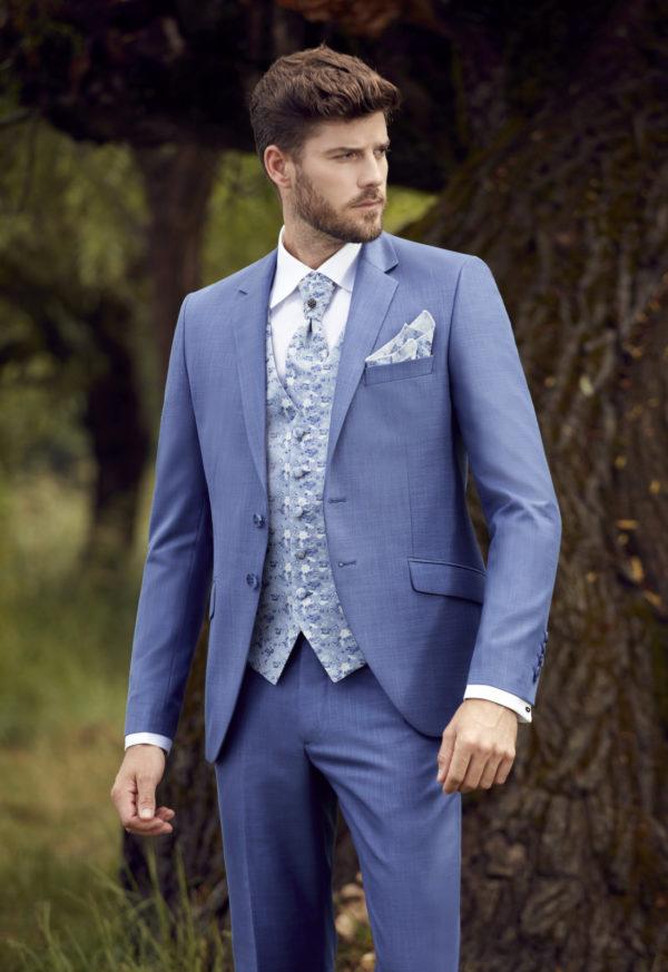Costume de marié 3 pièces bleu clair