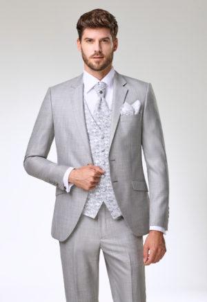 Costume de marié 3 pièces gris clair