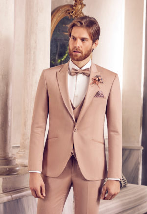 Costume de mariage 3 pièces beige -3484-21