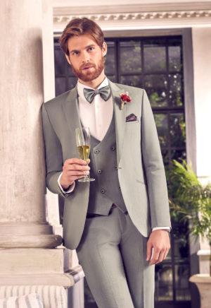 Costume de mariage 3 pièces vert amande -3484-25