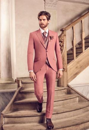Costume de mariage 3 pièces rose -3483-14