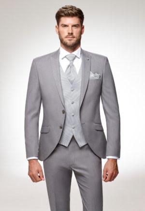 Costume de marié 3 pièces gris moyen